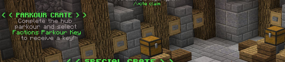Crate keys such as the vote crate key for voting and parkour key for completing our parkour!