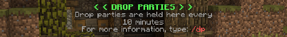 Drop parties are held every 10 minutes, kits can be claimed every hour!