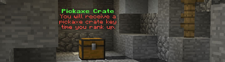 OP Pickaxe crate with which you can receive custom enchantment pickaxes