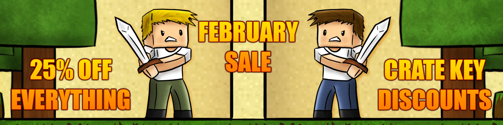 Up to 25% off in our February sale!